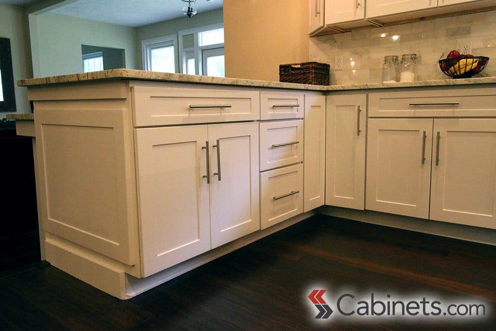 Creating An Affordable White Kitchen Cabinets Com