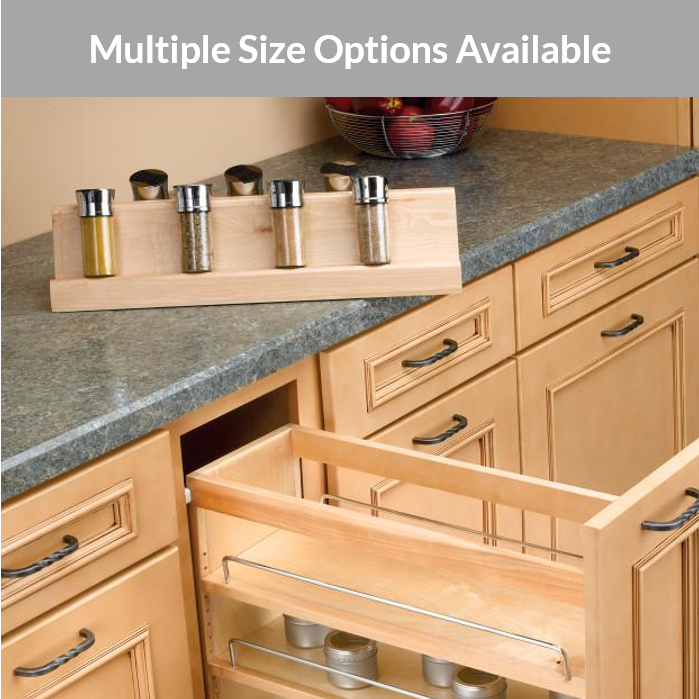 Rev A Shelf Spice Rack Cabinets Com, Spice Racks For Kitchen Cabinets Pull Out