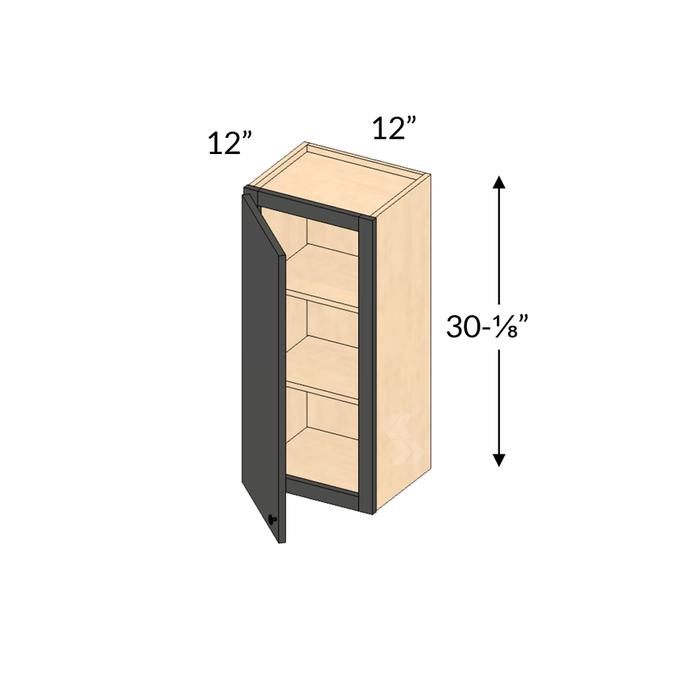 W1230 Shaker Maple Espresso Wall Cabinet 1 Door Framed Assembled Kitchen Cabinet Cabinets Com