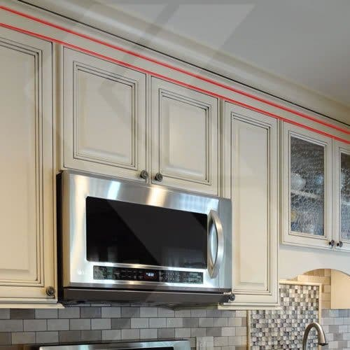 Kitchen With An 8 Ceiling Cabinets, Tall Kitchen Cabinets To Ceiling