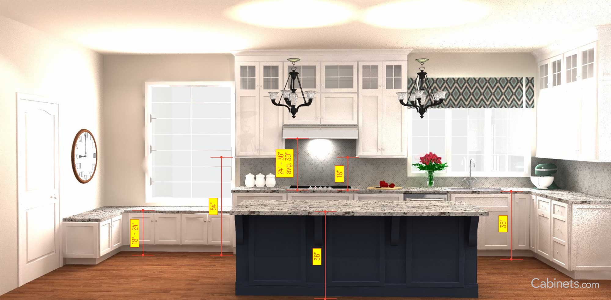 Important Kitchen Dimensions - Start Planning - Cabinets.com
